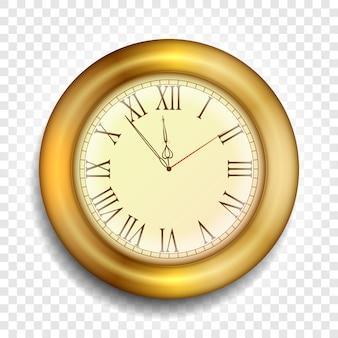 Oud gouden horloge. realistische klokillustratie.