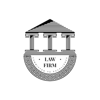 Oud grieks monument icoon. architectuur gebouw symbool. vintage retro acropolis logo ontwerp vector