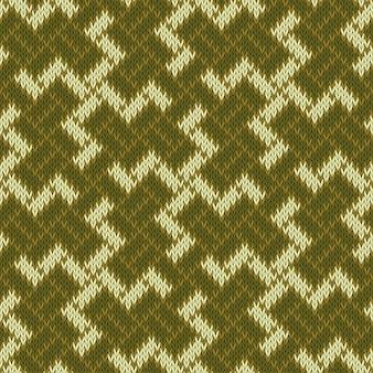 Oud heilig symbool van de balinese hakenkruis. naadloos gebreide wol patroon