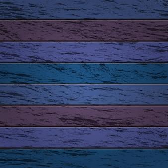 Oud houtstructuurbehang als achtergrond in blauwe en purpere kleur