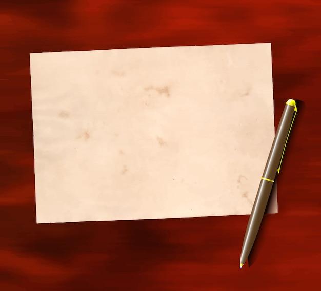 Oud papier en pen