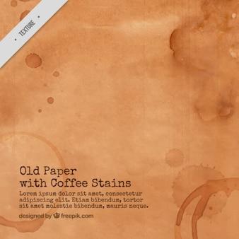 Oud papier met koffievlekken
