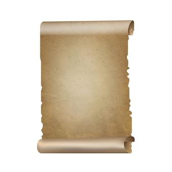 Oud papier schuift