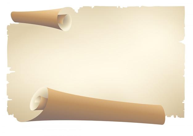 Oud papier scroll banner