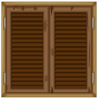 Oud raam van hout