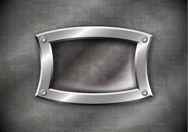 Oud roestig metalen frame