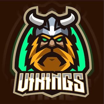 Oud viking mascotte gaming-logo