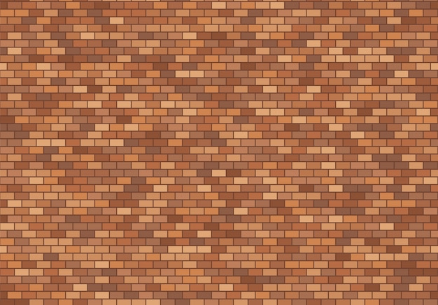 Oude bakstenen muurachtergrond. rode naadloze het patroonvector van de bakstenentextuur.