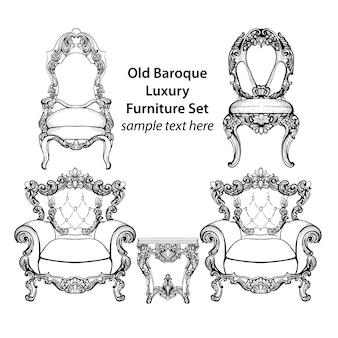Oude barokke luxe meubelset