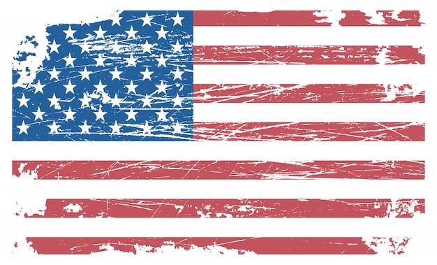 Oude bekrast vlag van de verenigde staten