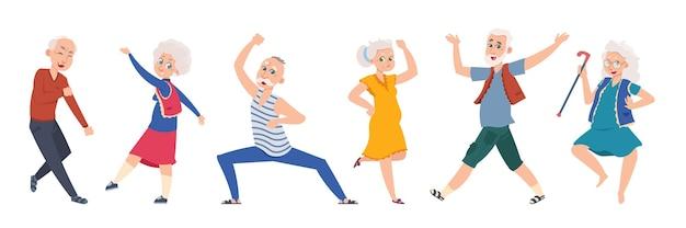 Oude dansende mensen illustratie