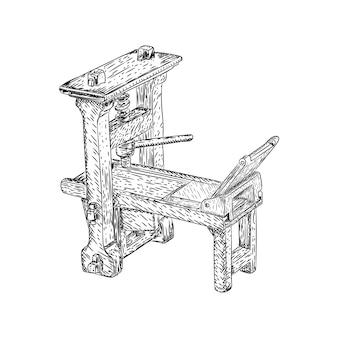 Oude drukpersmachine
