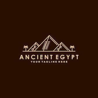 Oude egypte premium logo sjabloon
