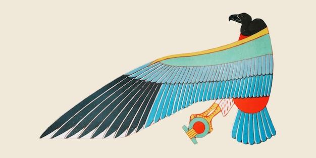 Oude egyptische nekhbet-illustratie