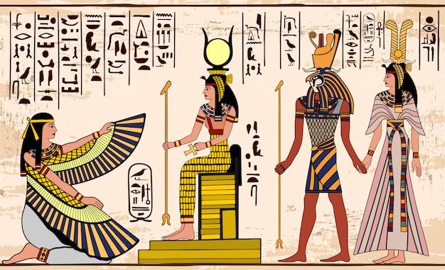 Oude egyptische tekening