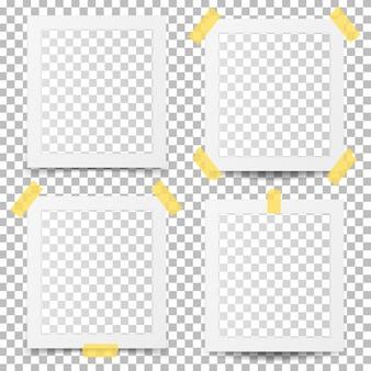 Oude fotolijsten geïsoleerd op transparant.