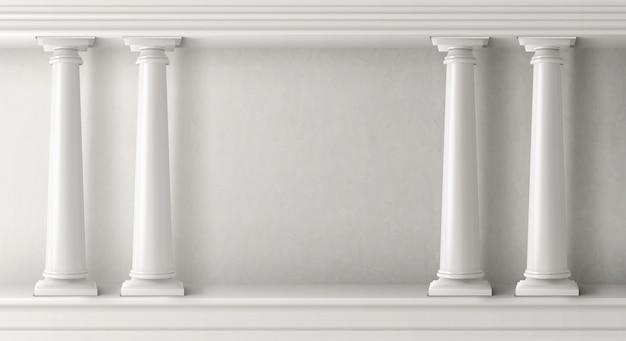 Oude griekse architectuur met witte pilaren