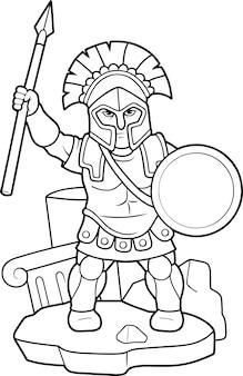 Oude griekse krijger