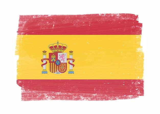 Oude grunge vlag van spanje
