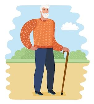 Oude man in het park