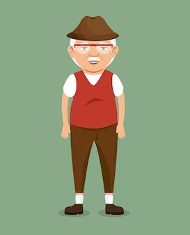 Oude man karakter avatar pictogram