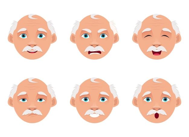 Oude man ontwerp illustratie geïsoleerd