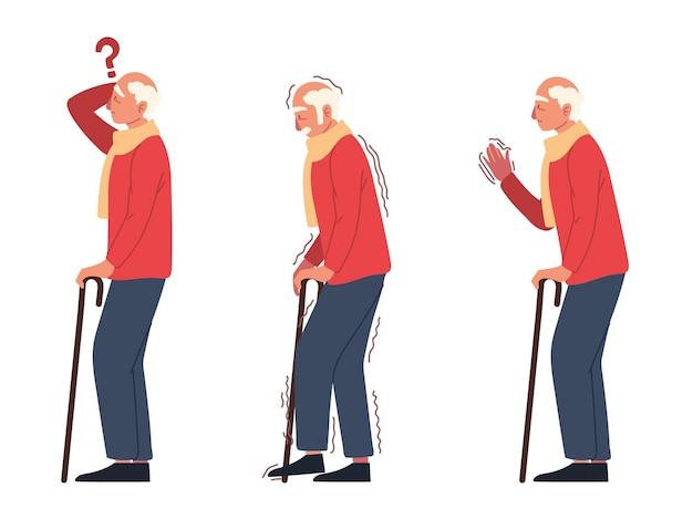 Oude man symptomen de ziekte van parkinson