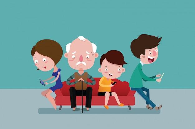 Oude man voor eenzaamheid