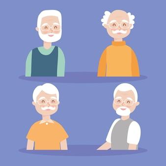 Oude mannen pictogram decorontwerp