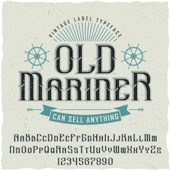 Oude mariner vintage poster
