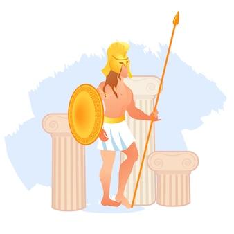Oude olympische god van oorlog ares of mars van griekenland