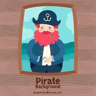 Oude piraat achtergrond