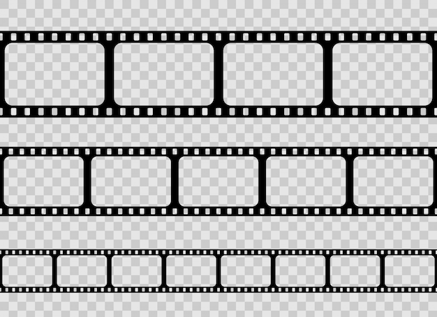 Oude retro film strip frame, bioscoop filmstrip.