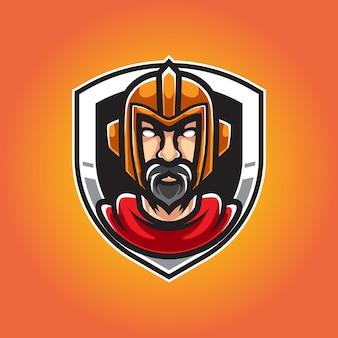 Oude ridder sport mascot logo