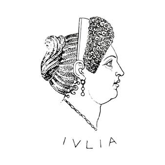 Oude romeinse illustratie Gratis Vector