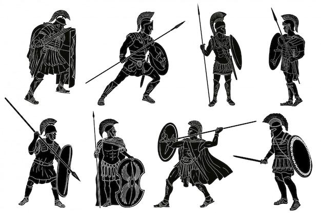 Oude romeinse krijger.