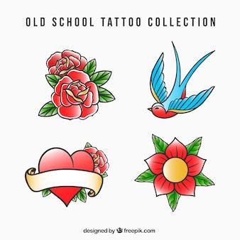 Oude school klassieke tattoo collectie