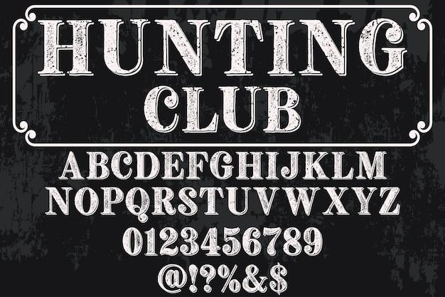 Oude stijl belettering jachtclub