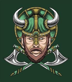 Oude strijder viking illustratie vector
