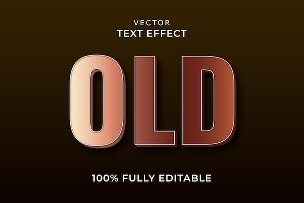 Oude tekst effect eps