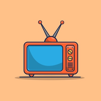 Oude televisie pictogram illustratie