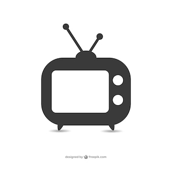 Oude televisie set icon