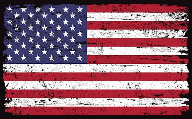 Oude vintage amerikaanse vlag