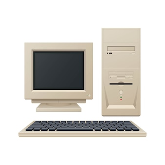 Oude vintage computer illustratie