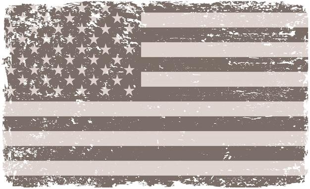 Oude vintage usa vlag