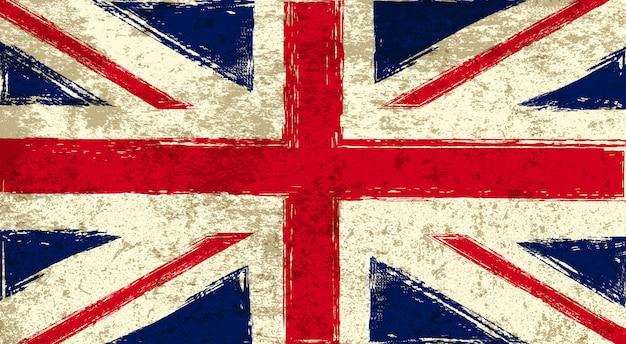 Oude vlag van het verenigd koninkrijk