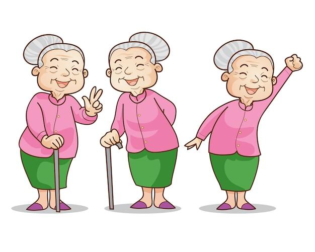 Oude vrouw goedaardig