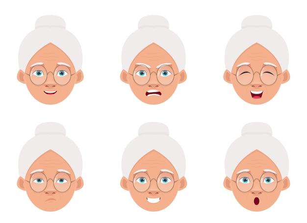 Oude vrouw ontwerp illustratie geïsoleerd