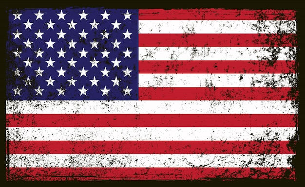 Oude vuile amerikaanse vlag