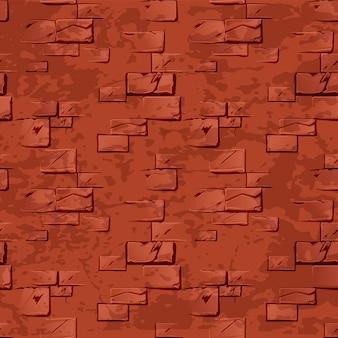 Oude vuile rode bakstenen muur.